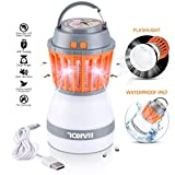 HAKOL Ultimate Bug Zapper Lamp | Lightweight & Efficient Insect Fly Killer | 2-in-1 Portable Mosquito Eliminator & Camping Lantern | USB Rechargeable, IP67 Waterproof & Eco-Friendly | Nontoxic & Safe