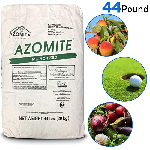 Azomite AZOMITE-44-1 Azomite-44A Bag Micronized Bag-100% Natural 44 lb, White