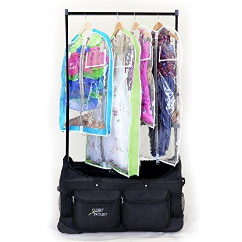 Closet Trolley Dance Bag with Garment Rack BLACK - NEW FACTORY 2ND