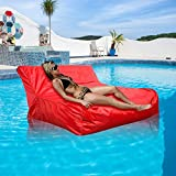Floating Bean Bag Cover,Waterproof Swimming Pool Floats Bean Bags Cover Reading Relaxing Soft Lounge Chair Sofa for Indoor or Outdoor Use(Beans NOT Included), Red