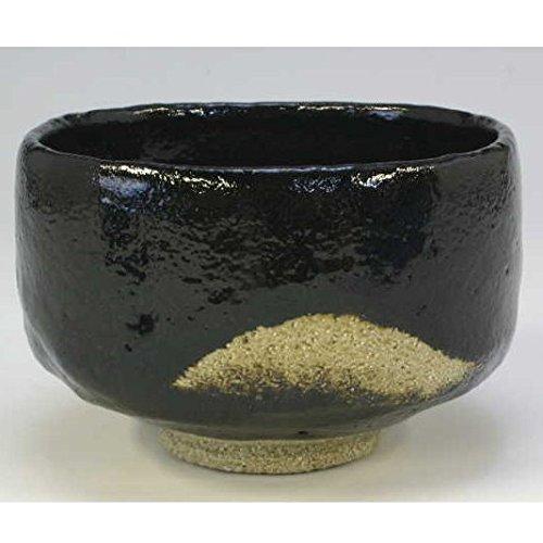 Kiyomizu-kyo yaki ware. Japanese Matcha chawan teabowl Kuro raku masu with wooden box. Ceramic. kymz-TSM739