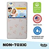 Delta Children Twinkle Stars Limited Fiber Core Crib and Toddler Mattress Waterproof Lightweight GREENGUARD Gold Certified (Natural/Non-Toxic)