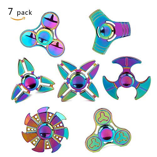 Metal Fidget Spinner 7 Pack