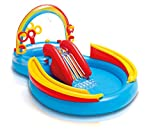 Intex Rainbow Ring Inflatable Play Center, 117' X 76' X 53', for Ages 2+