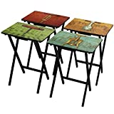 Product review for Oriental Furniture Vineyards of France TV Tray Set with Stand