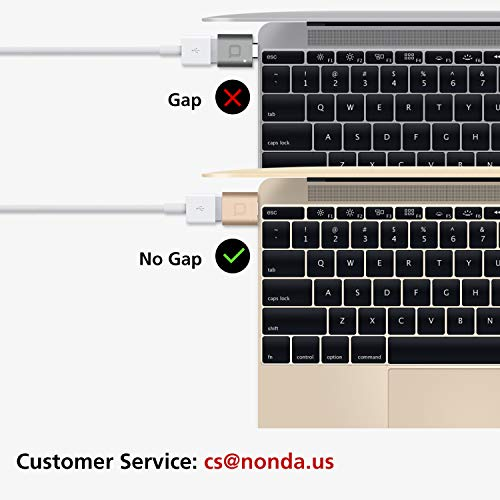 nonda USB Type C to USB 3.0 Adapter, Thunderbolt 3 to USB Adapter Aluminum with Indicator LED for MacBook Pro 2019/2018, MacBook Air 2018, Pixel 3, Dell XPS and More Type-C Devices (Space Gray)