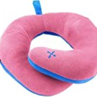 BCOZZY Chin Supporting Patented Travel Pillow - Prevents The Head from Falling Forward in Any Sitting Position, Providing Comfort and Support for The Neck and Head. Adult Size (Pink)