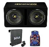 Kicker 44DCWC122 12' 1200W Car Audio Subwoofer Sub Enclosure+Mono Amplifier Amp
