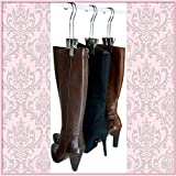 The Original Boot Hanger - Shoe Storage Space Saver (set of 3); Boot Hanger, Boot Holder, Boot Clips (Silver)