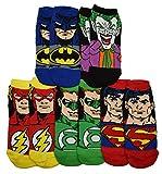 DC Comics Justice League Characters Flash Batman Superman 5 Pack Ankle Socks