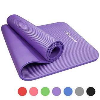 Image result for Reehut 1/2-Inch Extra Thick High Density NBR Exercise Yoga Mat for Pilates