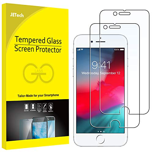 JETech 2-Pack Screen Protector for Apple iPhone 6, iPhone 6s, iPhone 7, and iPhone 8, Tempered Glass Film, 4.7-Inch