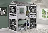 Product review for House Double Bunk Beds with Camouflage Tents - Free Storage Pockets