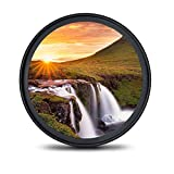 waka 52mm MC UV Filter - Ultra Slim 16 Layers Multi Coated Ultraviolet Protection Lens Filter for Canon Nikon Sony DSLR Camera Lens