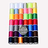 42 Color (2300Y) Sewing Thread Kit High strength thread Rainbow color For manual embroidery or sewing machine sewing kit embroidery free 30 quality golden tail needles