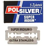 Polsilver Super Iridium Double Edge Razor Blades 5 razor blades