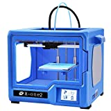 QIDI TECHNOLOGY 3D Printer, New Model: X-one2 (Blue Version), Fully Metal Structure, 3.5 Inch Touchscreen