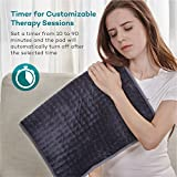 XXX-Large Heating Pad with Auto Off for Back Pain, FDA Registered, 10 Electric Temperature Settings, Super Soft Micro Plush, Moist Therapeutic Option, Relief for Neck Shoulder by Sable, 33' x 17'