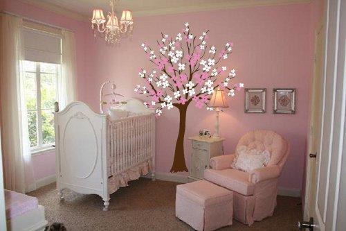 Large Wall Tree Nursery Decal Dogwood Magnolia Cherry Blossom Flowers #1116 (8 Feet Tall) - Available on Amazon