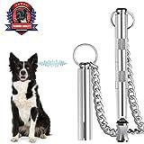 Dog Whistle, Professional Dog Training Tools, Adjustable Frequency Ultrasonic Pure Copper Dog Whistles & Dog Training Manual Instruction