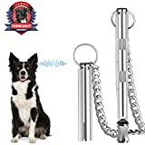 Dog Whistle, Professional Dog Training Tools, Adjustable Frequency Ultrasonic Pure Copper Dog Whistles & Dog Training Manual Instruction