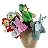 Lookatool® 4PCS/Set Little Red Riding Hood Christmas Animal Finger Puppet toy Educational Toys Storytelling Doll