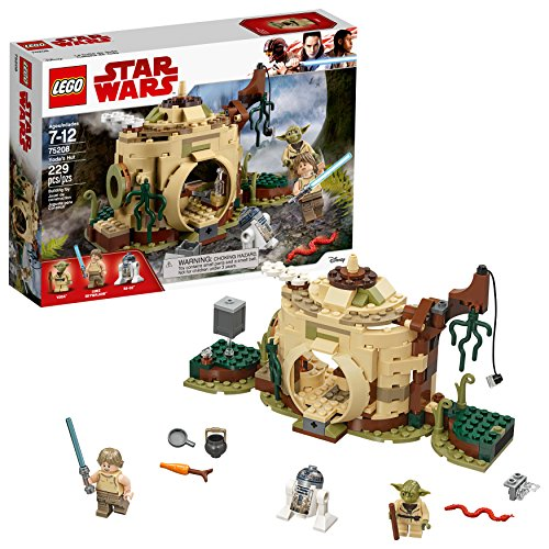 LEGO-Star-Wars-The-Empire-Strikes-Back-Yodas-Hut-75208-Buildin-g-Kit-229-Pieces-Discontinued-by-Manufacturer