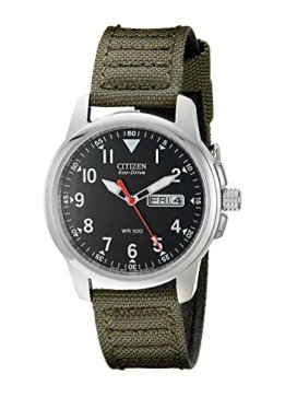 Citizen Men's Eco-Drive Stainless Steel Watch with Day/Date display, BM8180-03E