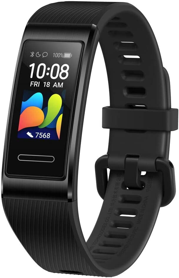 HUAWEI Band 4 Pro - Smart Band Fitness Tracker with 0.95 Inch AMOLED Touchscreen, 24/7 Heart Rate Monitor, Indoor Outdoor Pro Tracking, Sleep Monitor, Built-in GPS, 5ATM Waterproof - Graphite Black