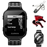 Garmin Approach S20 GPS Golf Watch, Black + S20 Screen Protector (2-Pack) + 7-in-1 Multi-Function Golf Tool + Neoprene Zippered Headcover for Golf Club Iron Head Covers Set + 1 Year Extended Warranty