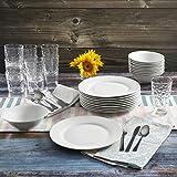 Gibson Home 48-Piece White Kitchen Basic Essentials Dinnerware Set/Round