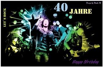 40 Jahre 40 Geburtstag Happy Birthday Maxikarte