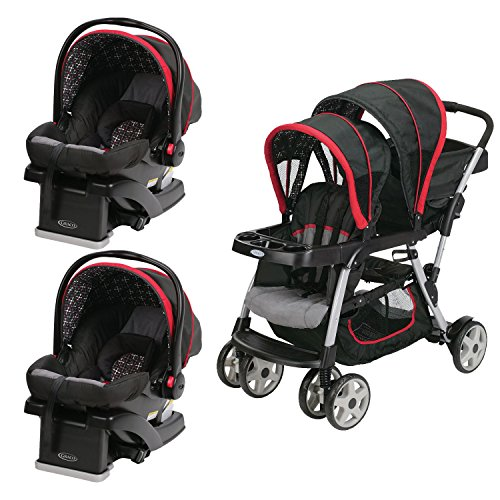 Graco Click Connect Double Seated Stroller And 2 Car Seats Travel