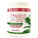Hawaiian Silky No Base Mild Relaxer & Texturizer Treatment 20 oz - Add Silky Shine Scalp - Good of Men, Women & Kids - for All Hair types