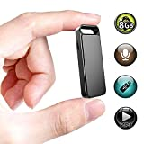 Mini Voice Recorder,XHYAIMS 8GB Keychain Sound Voice Recorder Noise Cancelling Dictaphone for Lectures (Black)
