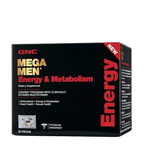 GNC Mega Men Energy Metabolism Vitapak Program, 30 Packets
