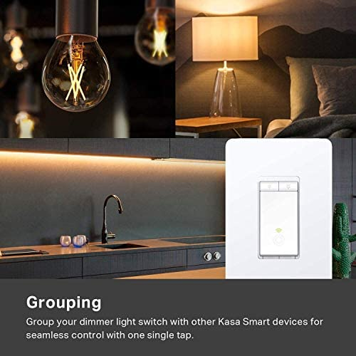 Kasa Smart Dimmer Switch HS220, Single Pole, Needs Neutral Wire, 2.4GHz Wi-Fi Light Switch Works with Alexa and Google Home, UL Certified,, No Hub Required 15