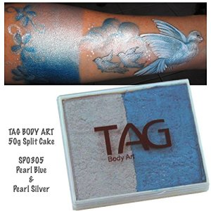 TAG 2 Color Split Cake – Pearl Blue and Pearl Silver (50 gm) 512fNVtmqLL