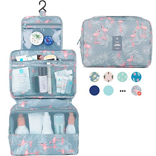 Hanging Travel Toiletry Bag Cosmetic Make up Organizer for Women and Girls...