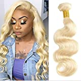 Blonde Bundles Human Hair Body Wave Bundles 1Pcs Brazilian Virgin Hair Sew In Human Hair Extensions For Black Women Double Weft On Sale 16 Inch