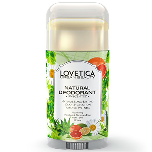 All Natural Effective Underarm Deodorant (Unscented) • Neutralizes Odors  and Prevents Natural Sweat or Excessive Sweating Caused by Stress or  Exercise