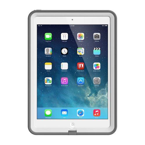 LifeProof FRĒ iPad Air Waterproof Case Retail Packaging - WHITE/GREY (1ST Generation iPad Air Only)