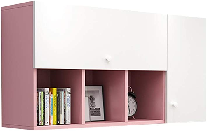 Wall Cabinets Double Door Locker Living Room Large Capacity Bedroom Wall Mounted Medicine Cabinet Can Be Assembled Color Pink Size 100 30 60cm Amazon Co Uk Kitchen Home