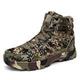 Goddessvan Mens Comfortable Non-Slip Wear-Resistant Combat Hiking Outdoor Military Boots Camouflage