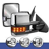 MOSTPLUS New Power Fold Chrome Towing Mirrors for 2014-2018 GMC Serria Chevy Silverado w/Turn light, Clearance Lamp(Set of 2) Not for Diesel Truck