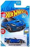 Hot Wheels 2018 50th Anniversary Factory Fresh Corvette C7 Z06 Convertible 5/365, Blue