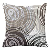 Emvency Throw Pillow Cover Tan Spiral Design Retro Decorative Pillow Case Home Decor Square 18 x 18 Inch Cushion Pillowcase