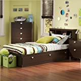 Product review for South Shore Cakao Twin Storage Bed and Bookcase Headboard, Chocolate