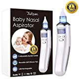 Electric Baby Nasal Aspirator Nose Cleaner and Snot Sucker - Adjustable Settings and Reusable Tips with LCD Screen
