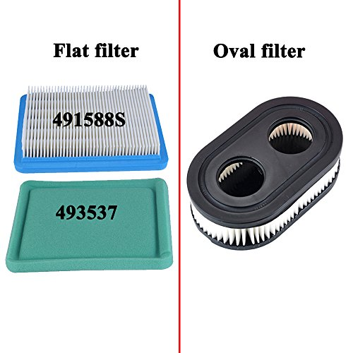 HIPA (Pack of 2 Oval Air Filter Cartridge for MTD Yard